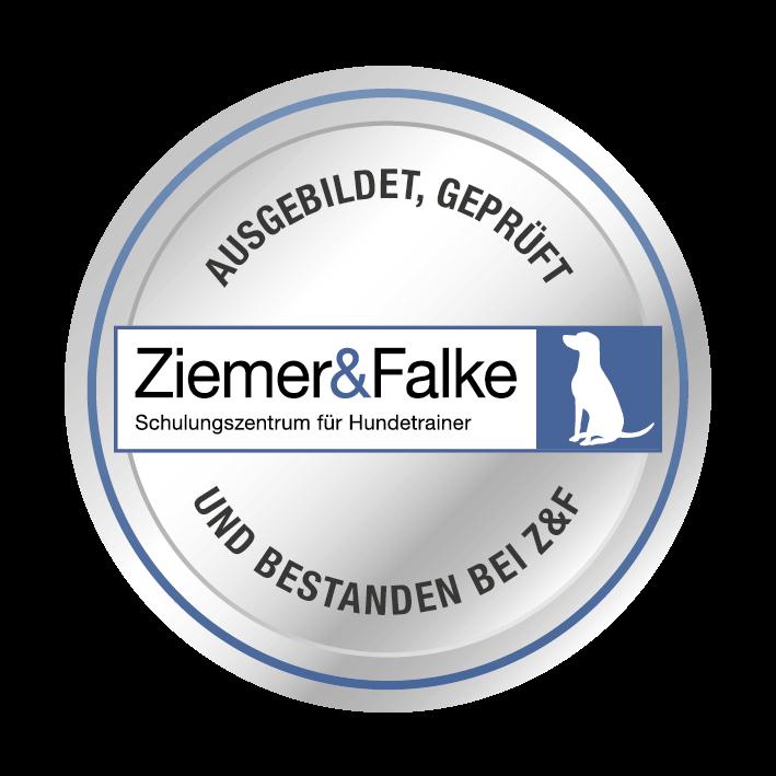 Hundeschule Mersdorf in Bochum ist ausgebildet und geprüft bei Ziemer&Falke